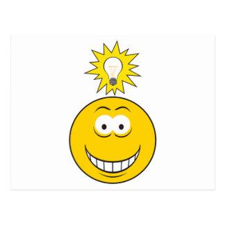 Heller Ideen-Smiley Postkarten