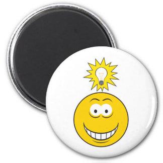 Heller Ideen-Smiley Runder Magnet 5,7 Cm