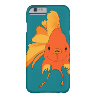 Heller illustrierter Goldfish Barely There iPhone 6 Hülle