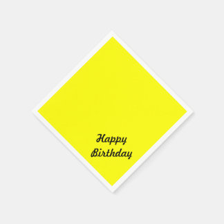 Heller Leuchtstoff gelber kundenspezifischer Papierserviette