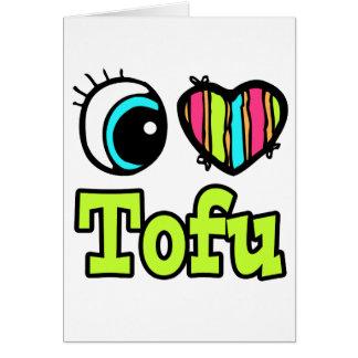 Heller Liebe-Tofu des Augen-Herz-I Karte