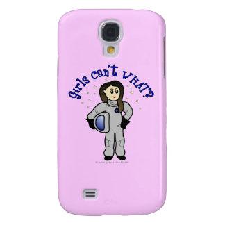 Heller Mädchen-Astronaut Galaxy S4 Hülle