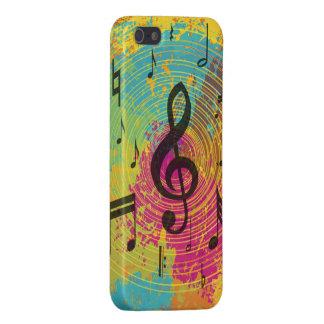Heller Musiknoten auf Explosion der Farbe iPhone 5 Hülle