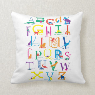 Heller, mutiger Alphabet-Entwurf Kissen