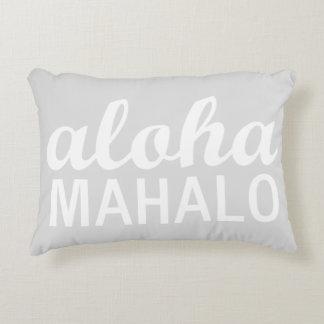 Heller Pastellgrau Aloha Mahalo Dekokissen