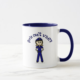 Heller Polizeibeamte Tasse