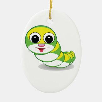 heller Raupenwurm Ovales Keramik Ornament