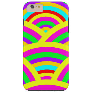 Heller Regenbogen-bunte Bogen-Streifen Tough iPhone 6 Plus Hülle