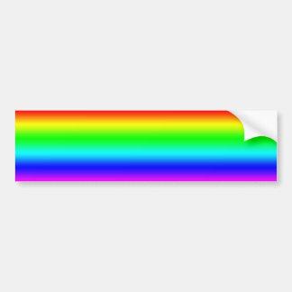 Heller Regenbogen-Entwurf Autoaufkleber