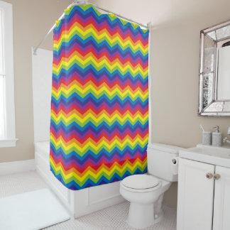Heller Regenbogen-Farbzickzack-Muster-Duschvorhang Duschvorhang