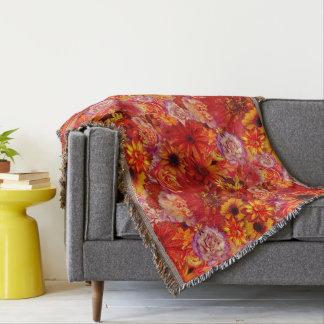 Heller Rojo mit Blumenblumenstrauß-reiche glühende Decke