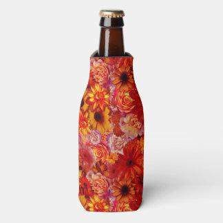 Heller Rojo mit Blumenblumenstrauß-reiche glühende Flaschenkühler