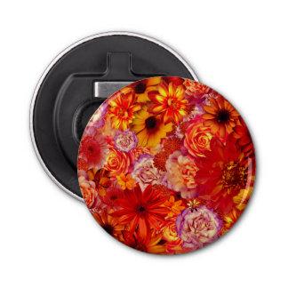 Heller Rojo mit Blumenblumenstrauß-reiche glühende Flaschenöffner