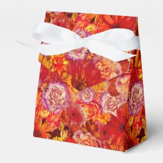 Heller Rojo mit Blumenblumenstrauß-reiche glühende Geschenkschachtel