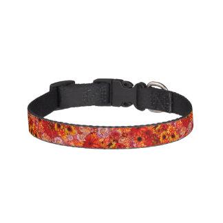 Heller Rojo mit Blumenblumenstrauß-reiche glühende Haustierhalsband