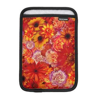 Heller Rojo mit Blumenblumenstrauß-reiche glühende iPad Mini Sleeve