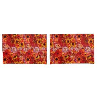 Heller Rojo mit Blumenblumenstrauß-reiche glühende Kissenbezug