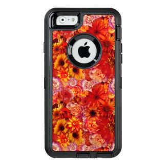 Heller Rojo mit Blumenblumenstrauß-reiche glühende OtterBox iPhone 6/6s Hülle