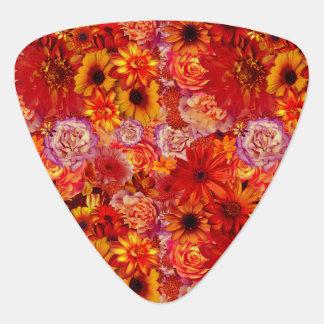 Heller Rojo mit Blumenblumenstrauß-reiche glühende Plektrum