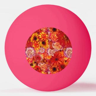 Heller Rojo mit Blumenblumenstrauß-reiche glühende Tischtennis Ball