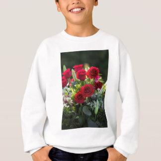 Heller romantischer Rosen-Blumenstrauß Sweatshirt