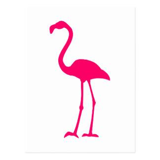 Heller rosa Flamingo Postkarte
