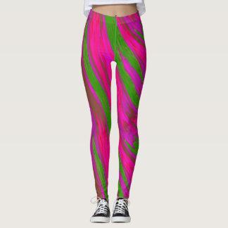 Heller rosa grüne FarbSwish abstrakt Leggings