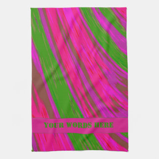 Heller rosa grüne FarbSwish Geschirrtuch