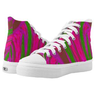 Heller rosa grüne FarbSwish Hoch-geschnittene Sneaker