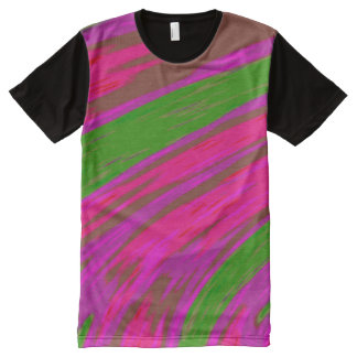 Heller rosa grüne FarbSwish T-Shirt Mit Bedruckbarer Vorderseite