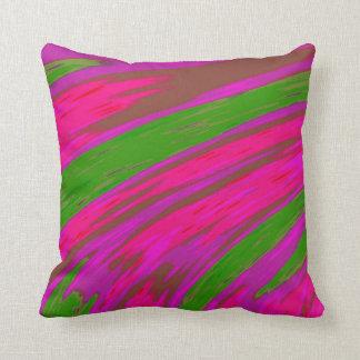Heller rosa und grüne Farbabstrakter Entwurf Kissen