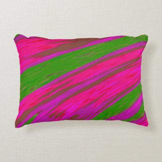 Heller rosa und grüne FarbSwish abstrakt Dekokissen