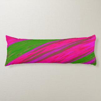 Heller rosa und grüne FarbSwish abstrakt Seitenschläferkissen