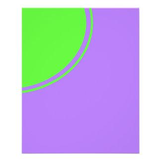 Heller rosa und grüner Modkreis 11,4 X 14,2 Cm Flyer