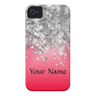 Heller Rot- und Imitat-Glitter Case-Mate iPhone 4 Hülle