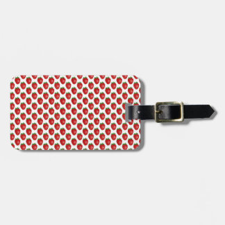Heller roter Erdbeerentwurfs-Gepäckanhänger Gepäckanhänger