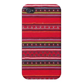 Heller roter Gewebe Speck-Kasten iPhone 4/4S Hüllen