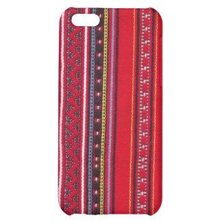 Heller roter Gewebe Speck-Kasten iPhone 5C Hüllen
