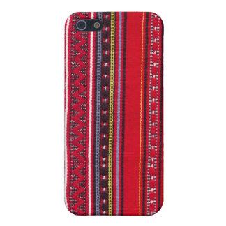 Heller roter Gewebe Speck-Kasten iPhone 5 Etuis