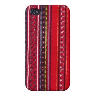 Heller roter Gewebe Speck-Kasten iPhone 4/4S Case