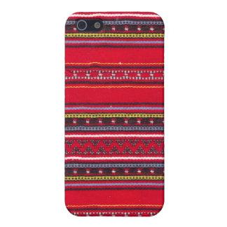 Heller roter Gewebe Speck-Kasten iPhone 5 Hüllen