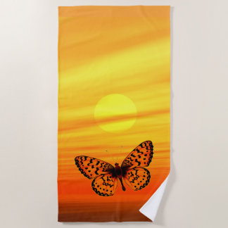 Heller Schmetterling Strandtuch