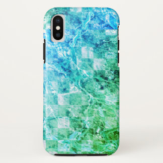 Heller Seeblaues Grün-moderner Marmor iPhone X Hülle