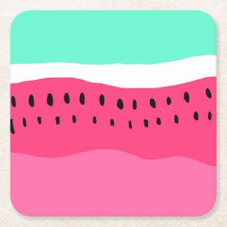 Heller Sommerwassermelone colorblock Rosa-Türkis Rechteckiger Pappuntersetzer