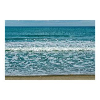 Heller Sonnenschein und gleitene Wellen Fotodruck