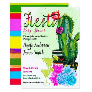 Heller Streifen-Kaktus saftige FIESTA Babyparty Karte