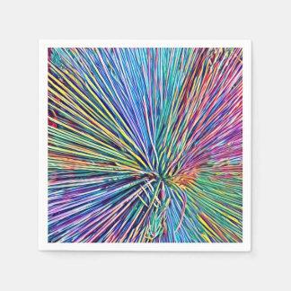 Heller und flippiger Regenbogen färbt Serviette