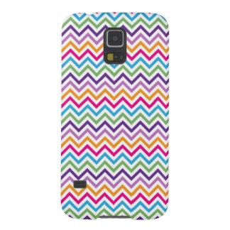 Heller Zickzack Mehrfarbendruck Samsung Galaxy S5 Hülle
