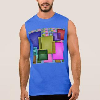 Helles 3-D geometrisches abstraktes Ärmelloses Shirt