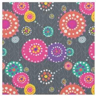Helles abstraktes Blumendruck-Gewebe Stoff